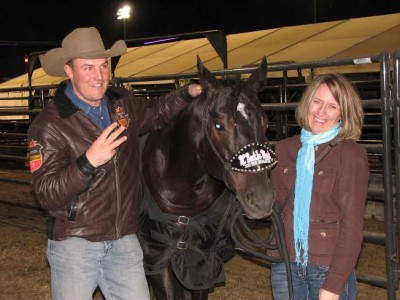 William and Donna with RC Back In Black after her third go round win at the NFR.