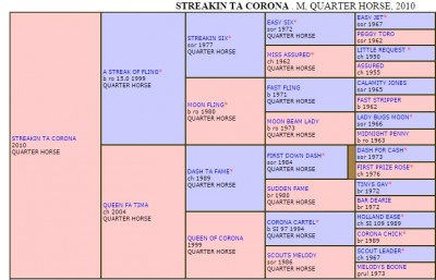 Click To Enlarge Pedigree for Streakin Ta Corona