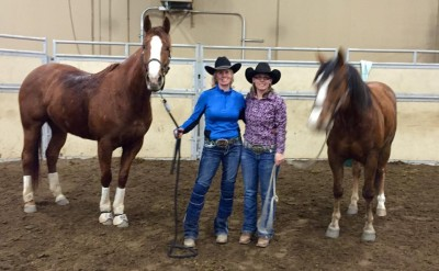 From left to right.   Unleashed Ta Speed, Marci Laye, Kandi Horn and Unleash Bently.  1st and 2nd in the Short Go.