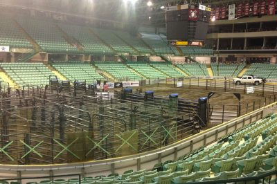 Set up for a bull riding