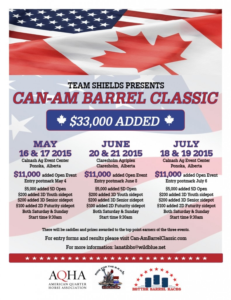 Can-Am Barrel Classic @ Calnash Ag Event Center | Ponoka | Alberta | Canada