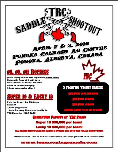 TRC Saddle Shoot Out @ Calnash Ag Events Centre   Ponoka   Alberta   Canada