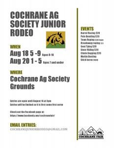 Cochrane Junior Rodeo @ Cochrane & District Agricultural Society | Cochrane | Alberta | Canada