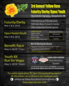 Yellow Rose Futurity/Derby/Open/Youth @ Claresholm Agriplex | Claresholm | Alberta | Canada